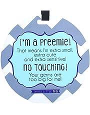 (Three Little Tots) Blue Preemie Chevron Tag - I'm A Preemie!