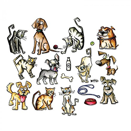 sizzix-661594-framelits-mini-crazy-cats-and-dogs-die-set-45-pieces
