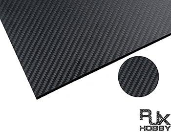 RJXHOBBY 500X400X8MM 100% 3K Carbon Fiber Plate Panel Sheet 8mm Thickness (Cross grain, matte surface )