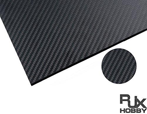 RJXHOBBY 500X400X8MM 100% 3K Carbon Fiber Plate Panel Sheet 8mm Thickness (Cross grain, matte surface ) by RJXHOBBY