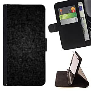 For Samsung Galaxy S6 Edge Plus Black Grey Background Fabric Pattern Structure Style PU Leather Case Wallet Flip Stand Flap Closure Cover