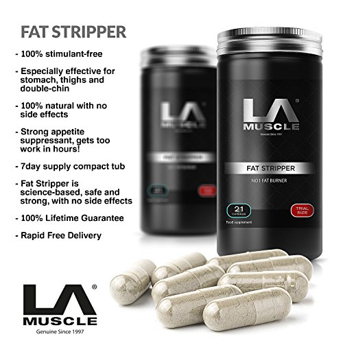 LA Muscle Fat Stripper® - As seen on TV and used by athletes and celebs worldwide Lifetime Guarantee - Amazing fat loss Quick Results Diet Pill suitable for both Men - Celebs On As Seen