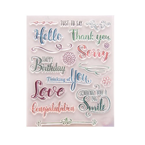 ShapeW Lettering Silicone Clear Stamp Scrapbook Album Home Decor Gift Card Kid Adult DIY