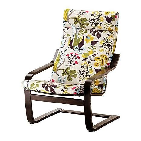Enjoyable Amazon Com Ikea Poang Chair Black Brown With Blomstermala Evergreenethics Interior Chair Design Evergreenethicsorg