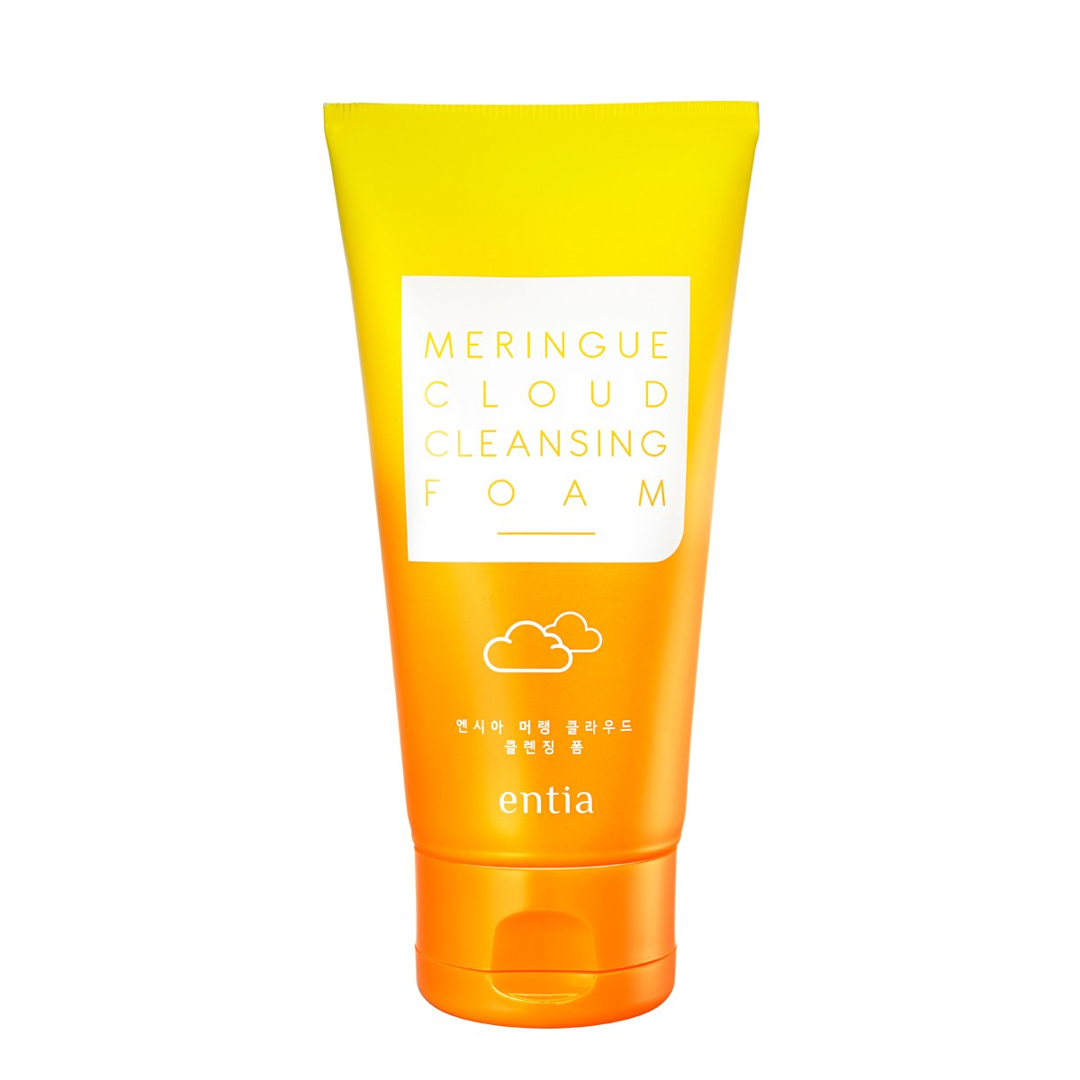 [ENTIA] Meringue Cloud Cleansing Foam 3.38 oz. (100ml) - Pore Care Egg White Foam Cleanser, Rich and Soft Bubble Foam, Hypoallergenic Deep Cleansing Brightening Cleanser