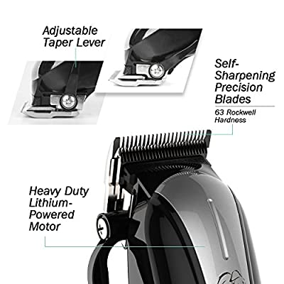 Beautural Professional Cordless Pet Grooming Clipper Kit, Low Noise Rechargeable Dog and Cat Hair Trimmer with Combs, Scissors, Styling Apron, Storage Case from Beautural