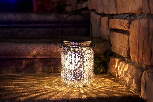 Solar Mercury Glass Mason Jar - 2 Pack Sunwind Silver Table
