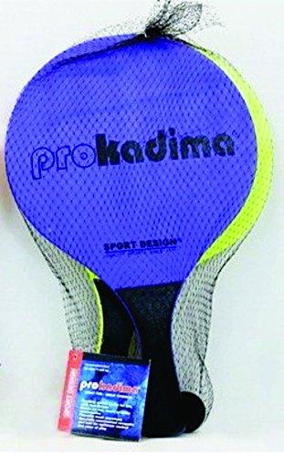 Pro Kadima Paddle Ball Set Neon Purple & Neon Green