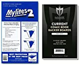 SUPER TEAM-UP! (50) Gerber Current Size Mylites 2 Current Comic Book Mylar Sleeves PLUS Boards by Max Pro (Qty= 50 M2's and 50 Boards)