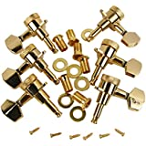 Golden 3L3R Twist Locking Electric Acoustic Guitar Tuning Pegs Machine Heads Set, 3X3 3L3R