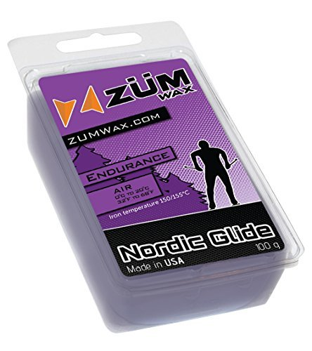 (ZUMWax ENDURANCE NORDIC/CROSS-COUNTRY RACING GLIDE WAX - Extra Durable - 100 gram)