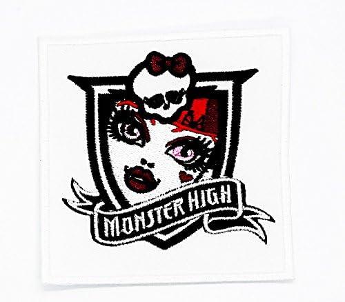 Blanco Monster High parche ideal para su Jeans, sombreros, bolsos, chaquetas y camisas de adorno.: Amazon.es: Juguetes y juegos