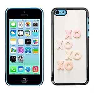 Be Good Phone Accessory // Dura Cáscara cubierta Protectora Caso Carcasa Funda de Protección para Apple Iphone 5C // Xo Kisses Text Sweet Love Sweetheart