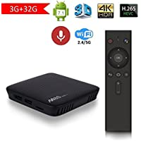 ACEMAX Latest Mecool M8S Pro L ATV Android 7.1 TV Box 3GB RAM 32GB ROM with Voice Control Remote Octa Core Bluetooth 4.0 Dual 2.4G/5G WiFi 4K UHD Supported OTA