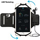 simptech Running Phone Armband for iPhone X / 8/7 / 6 / 6S Plus, Galaxy S8 / S7 /S7 Edge,180°Rotatable Design with Key Holder Ideal for Gym Workout Jogging Hiking