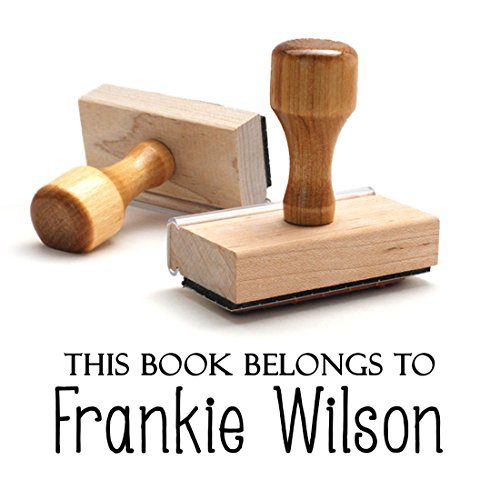 Customizable From the Library of Stamp Book Label Name This Book Belongs to Personalized Wooden Handle Custom Rubber Stamper Child Kids Stamp Year Book Signature …
