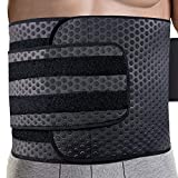 Waist Trimmer for Men | Ab Belt Widening Sauna Trainer with Double Adjusted Straps for Fitness Loss and Back Support Wide Sweat Adjustable Motion Splicing