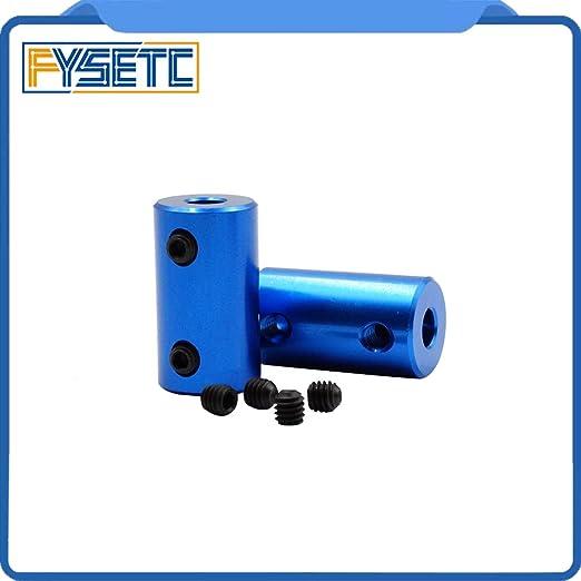 Amazon.com: Zamtac 2pcs Blue Shaft Coupler Stepper Motor ...