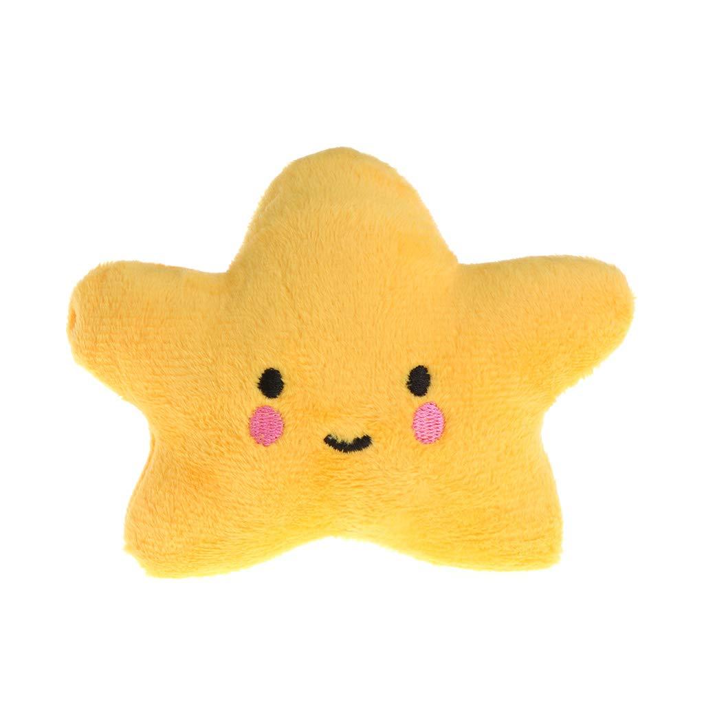 Runrain Jouet pour Animaux en Peluche Nuage en Forme d'étoile couineur Doux Son Chien Mignon Chat à mâcher Chiot Enfants