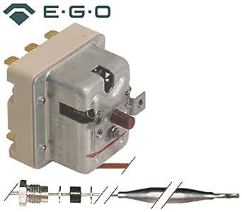 giorik Seguridad Termostato EGO Tipo 55.32562.807 para Combi Silenciador, horno eléctrico