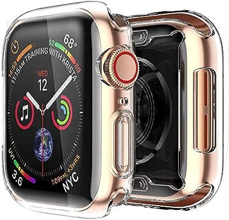 [2 pack] Funda Apple Watch 40mm Series 4/Series 5, Protector Pantalla iWatch 4 case Protección Completo Anti-Rasguños Ultra Transparente Funda Suave TPU, para Nueva Apple Watch Series 4/Series 5 40mm
