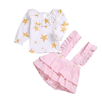 961a4bf5e415 Amazon.com : Tronet Kids Clothes, Toddler Baby Girls Star summer ...