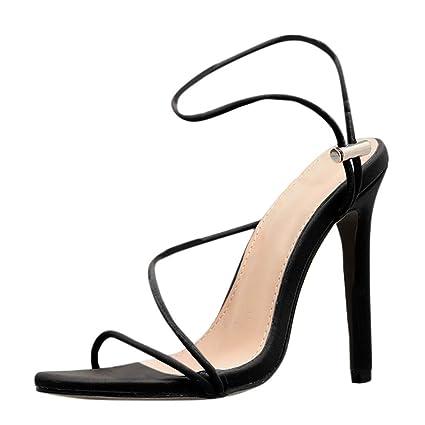 c5d12ec78c Amazon.com: Women Stiletto High Heels Sandals - Ladies Elegant Open ...