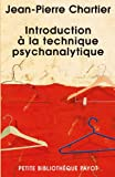 Introduction à la technique psychanalytique