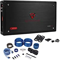 Rockville RXD-T2 Micro Car Amplifier 2400w 2 Channel 2x400W CEA Rated + Amp Kit