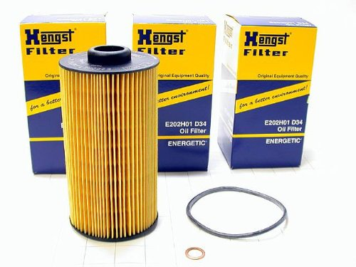 BMW 8cyl (91-03) Oil Filter Kits (LOT 4) Hengst (oem)