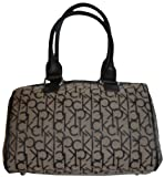 Women's Calvin Klein Purse Handbag Signature Logo Satchel Khaki/Black