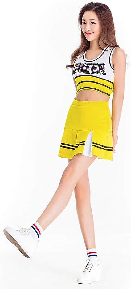 Disfraz de Animadora para Adulto Mujer Falda de Línea Uniforme de ...