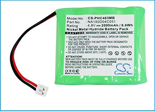 Cameron Sino 2000mAh NI-MH Rechargeable Baby Monitor Batteries Replacement for CHICCO 4-VH790670 SBP40CI Philips NA150D04C051 ((4.8V NIMH 2000mAh)) by Cameron Sino®