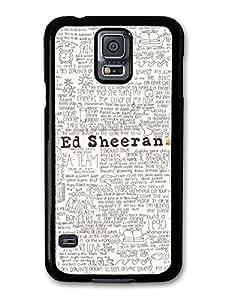 AMAF ? Accessories Ed Sheeran Songs Lyrics case for Samsung Galaxy S5