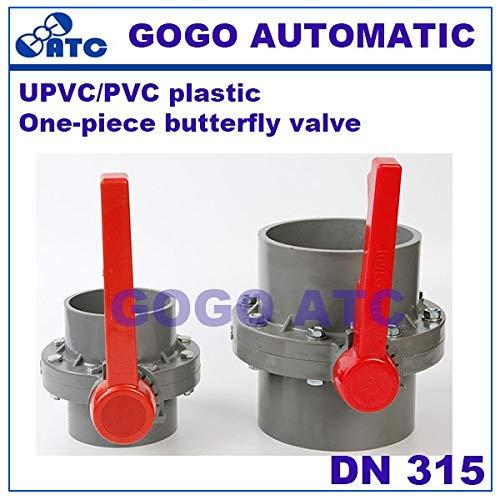 Fevas PVC Butterfly Valve Socket Type disc Valve Irrigation Butterfly Valve DN 315 mm Plastic one-Piece Butterfly Valve - (Color: Turbine, Specification: DN315)