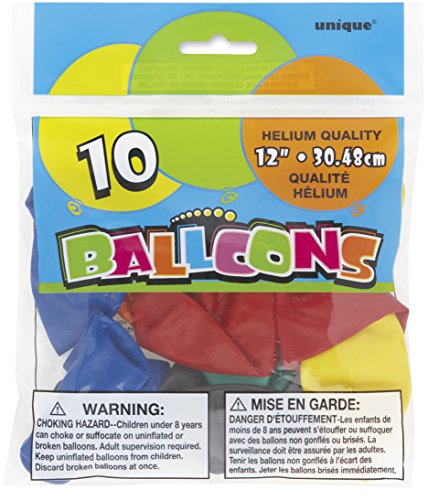 Latex Balloons Assorted Colors 10ct
