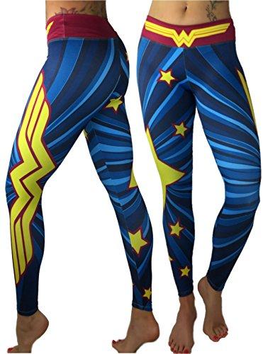 Wonder Woman Superhero Leggings Yoga Pants Compression (Womens Superheroes)