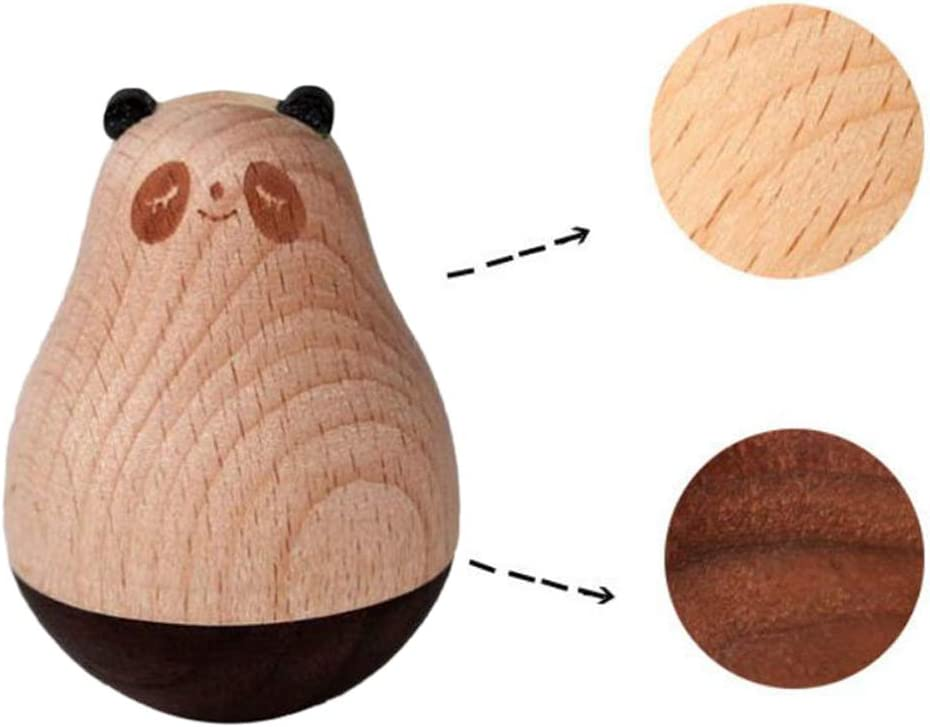 Auplew Juguete de Tambor Ping/üino de Madera Panda Alce Regalo de cumplea/ños para ni/ños Regalo