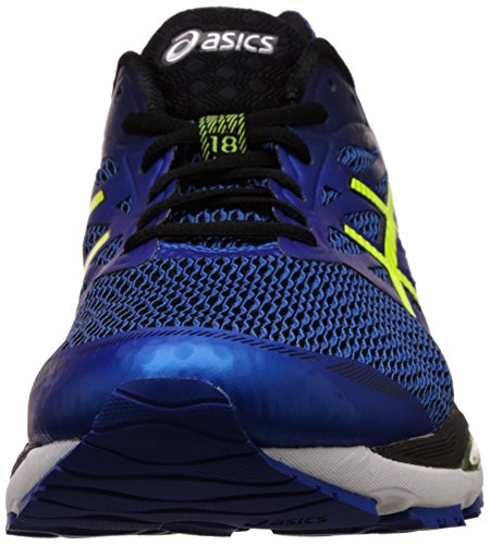 Asics Men's Gel-Cumulus 18 Imperial, Safety Yellow and Black Running Shoes - 8.5 UK/India (43.5 EU)(9.5 US)