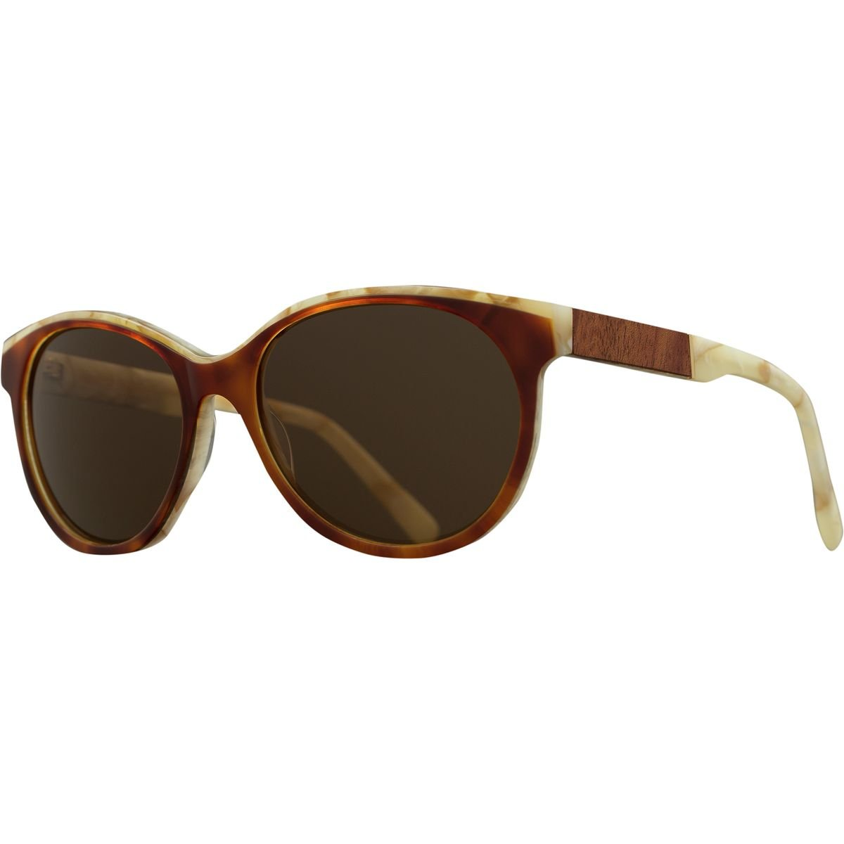 Shwood- Madison Acetate, Sustainability Meets Style, Salted Caramel/Mahogany, Brown Polarized Lenses