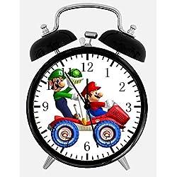 New Super Mario Luigi Alarm Desk Clock 3.75 Room Decor X33 Will Be a Nice Gift