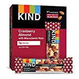KIND Bars, Cranberry Almond + Antioxidants with Macadamia Nuts, Gluten...