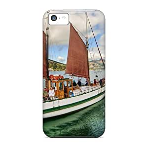 New Style CalvinDoucet Hard Cases Covers For Iphone 5c- Beautiful Old Sailboat