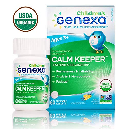Genexa Calm Keeper for Children | Certified Organic & Non-GMO, Physician Formulated, Homeopathic | Calming & Relaxation Aid for Children | 60 Tablets (Keep Calm And Go For The Gold)