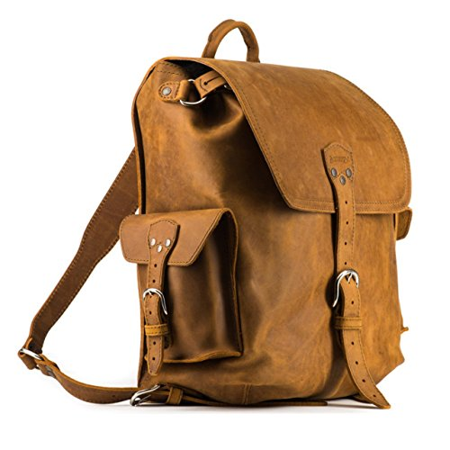 Saddleback Leather Simple Backpack – Best Backpack for School, Business - Large New Backpack Leather Genuine