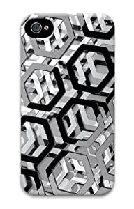 iPhone 4S Case, iPhone 4S Cases - Hexagons 3D Polycarbonate Hard Case Cover for iPhone 4/4S