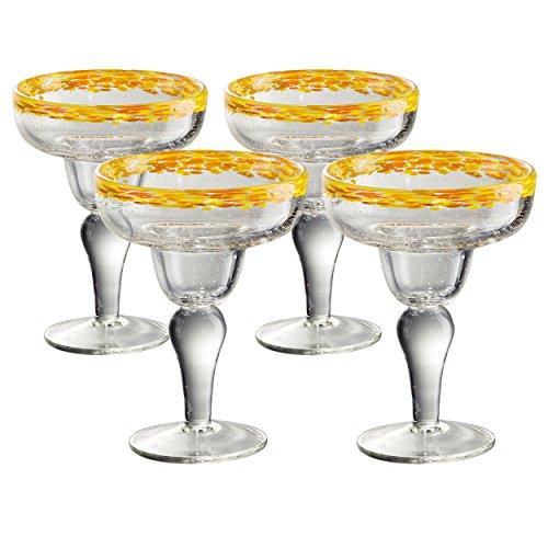 Artland 11606B Mingle Margarita Glass, Set Of 4 Yellow