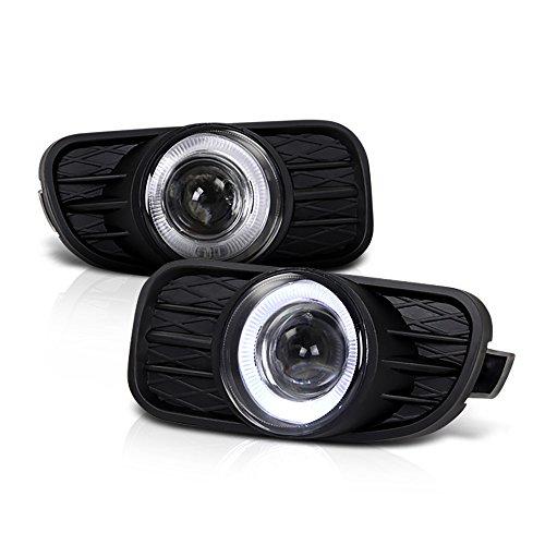 VIPMOTOZ LED Halo Ring Projector Fog Light Driving Lamp Housing Assembly w/Bezel For 1999-2003 Jeep Grand Cherokee, Driver & Passenger ()