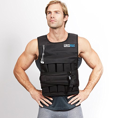 RUNmax Runfast 12Lbs-140Lbs Weighted Vest with Shoulder Pads, 60 lb