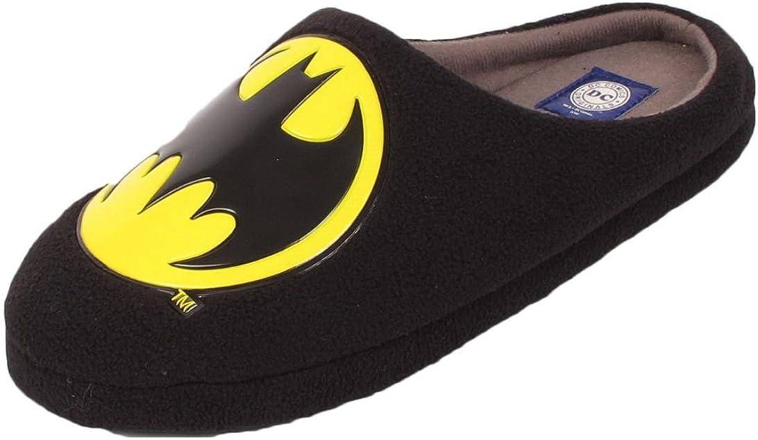 Officiel DC Comics Batman Chaussons Chaussures Taille UK 8 9 10 11 12 Mules
